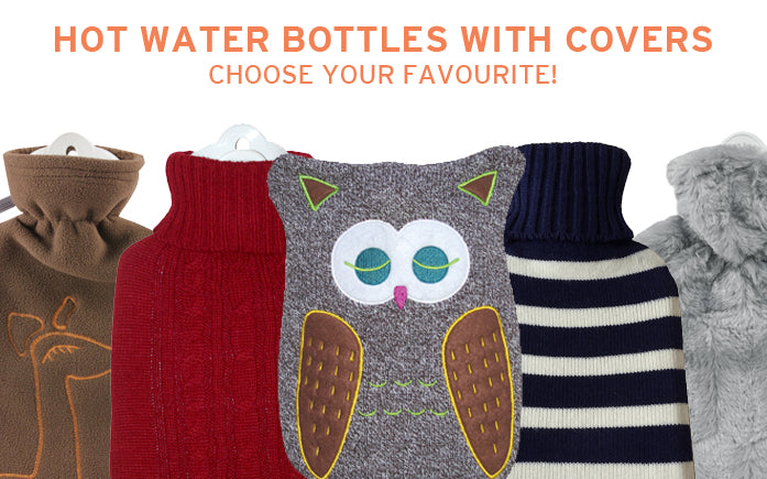 Hot Water Bottles with Covers