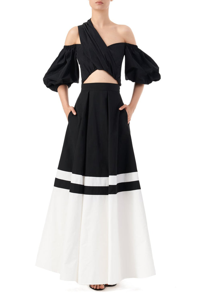 Veronica high waisted voluminous maxi skirt