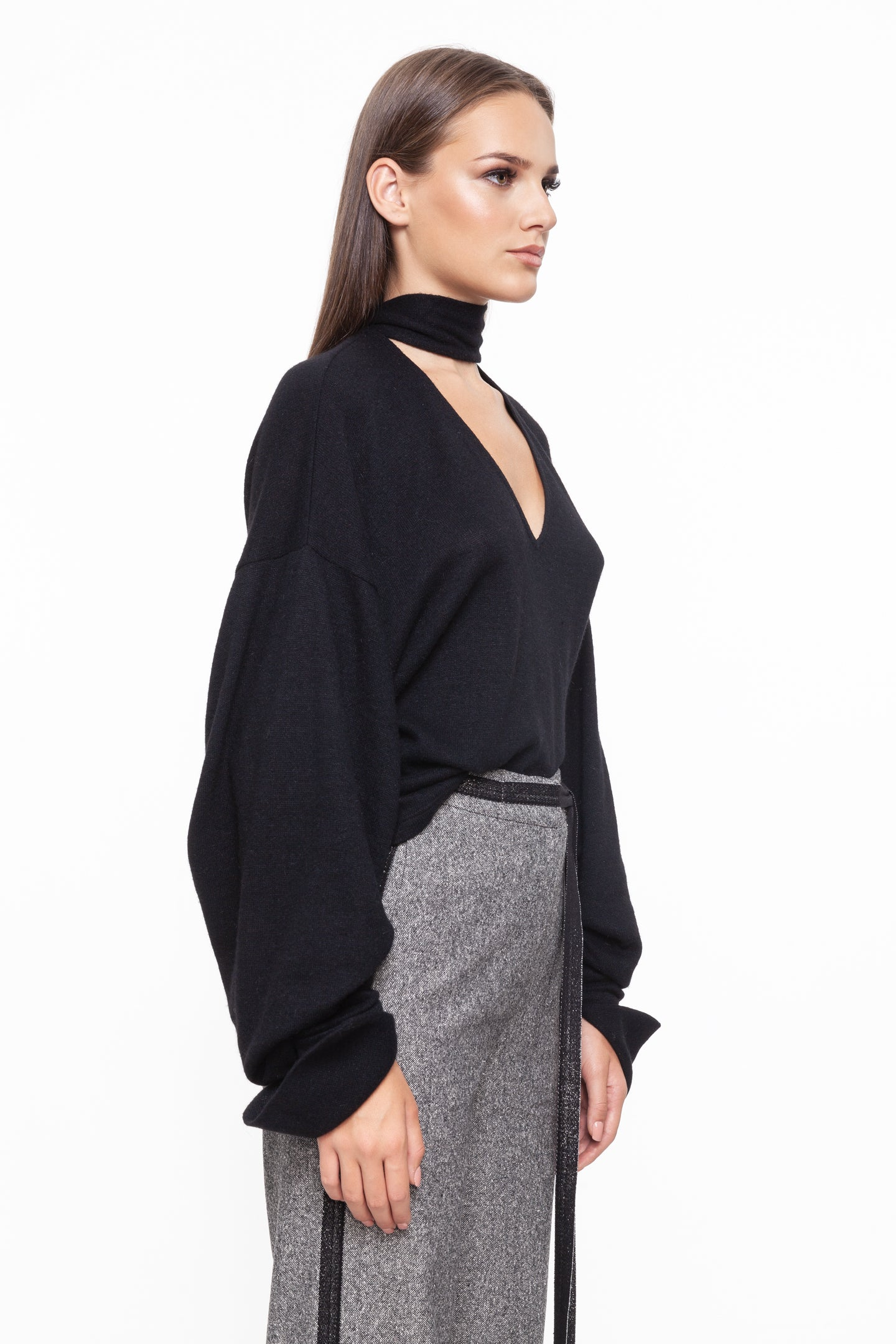 PALOMA Black Warm Crop Sweater