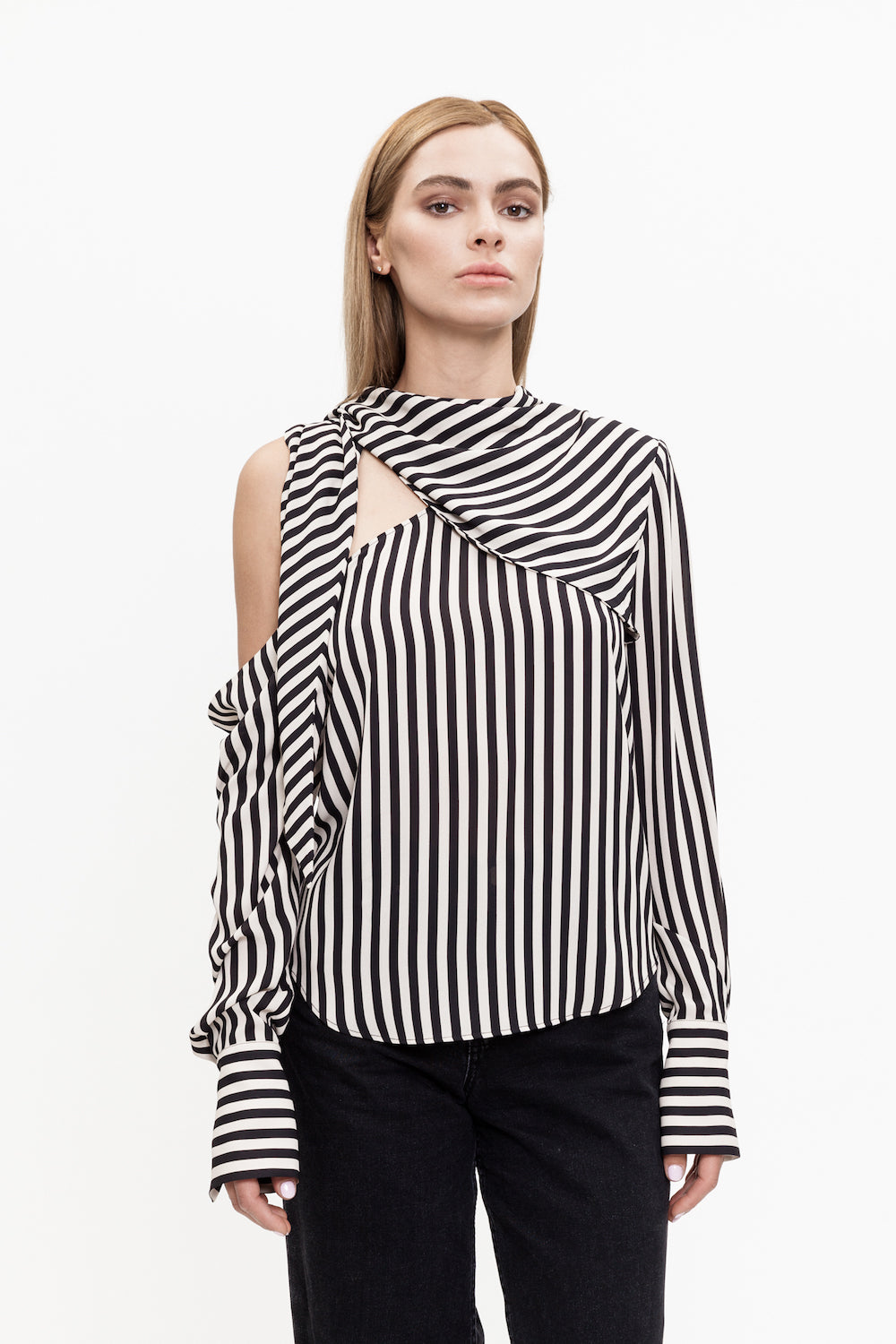 MONY black and white striped blouse