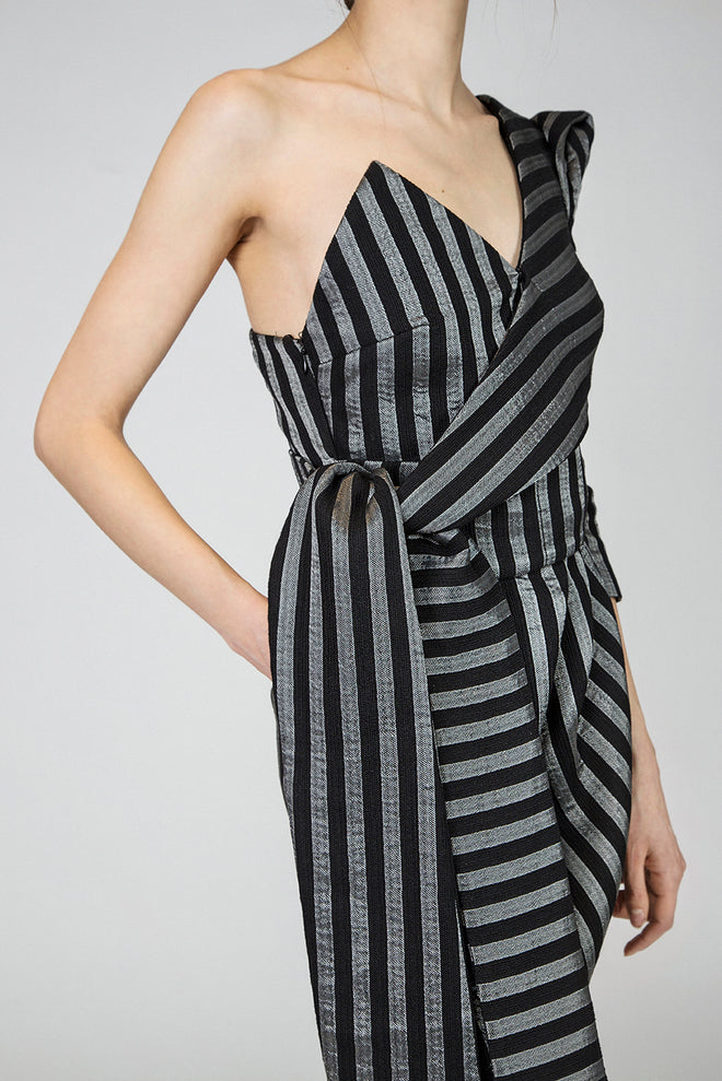 Taylor Striped Cotton Dress