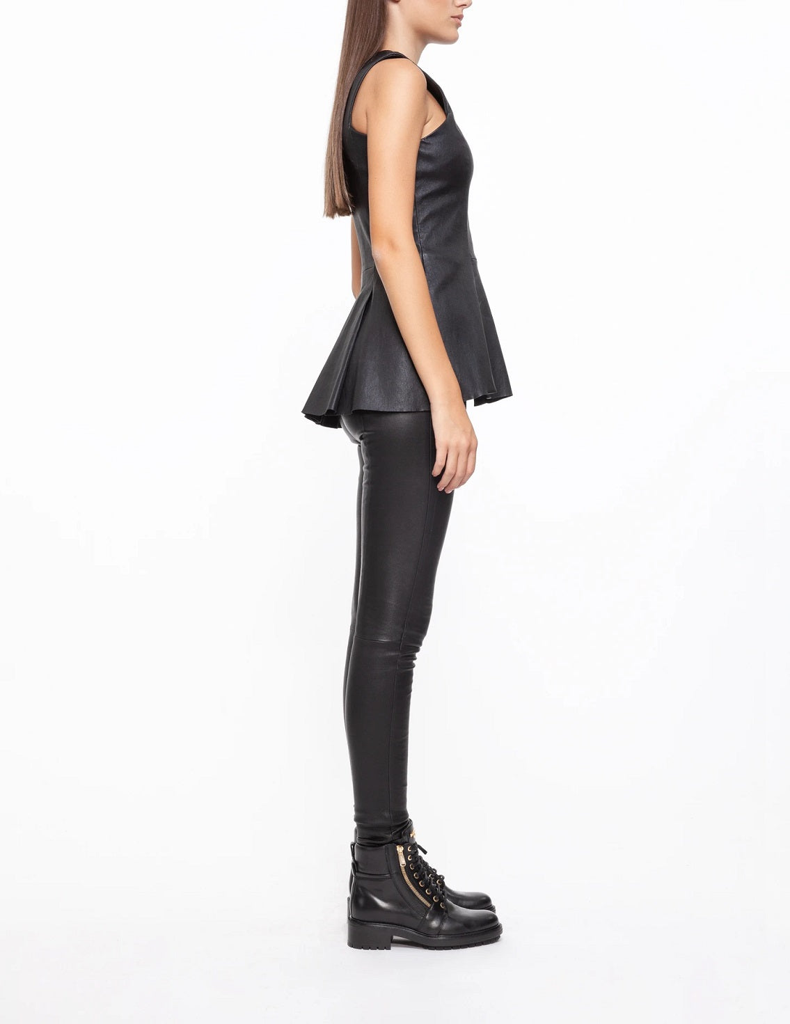 ORIBE Leather Sleeveless Top