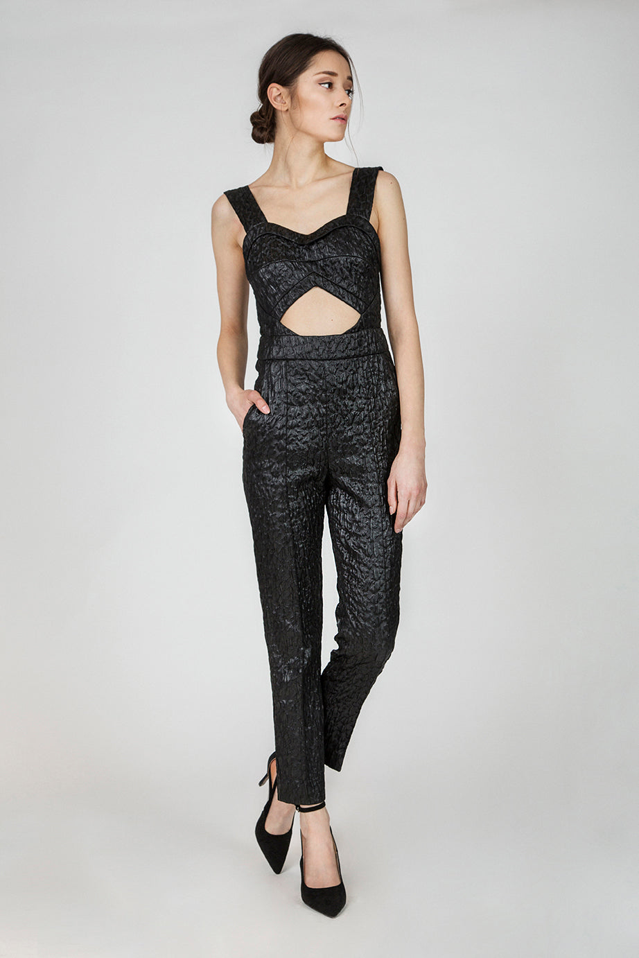 Ruth Black Sleek Jumpsuit