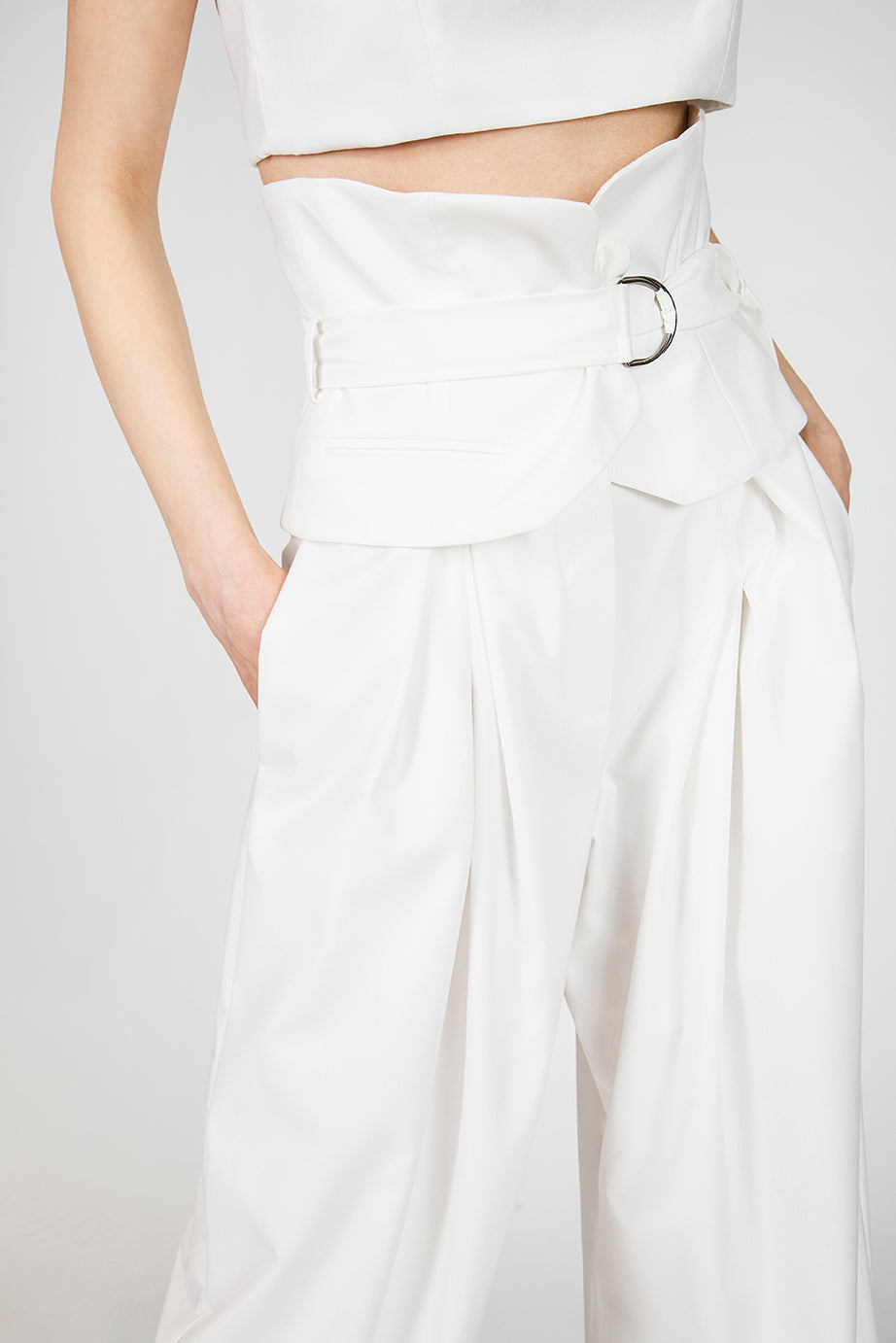Emily White Wide Leg Pants