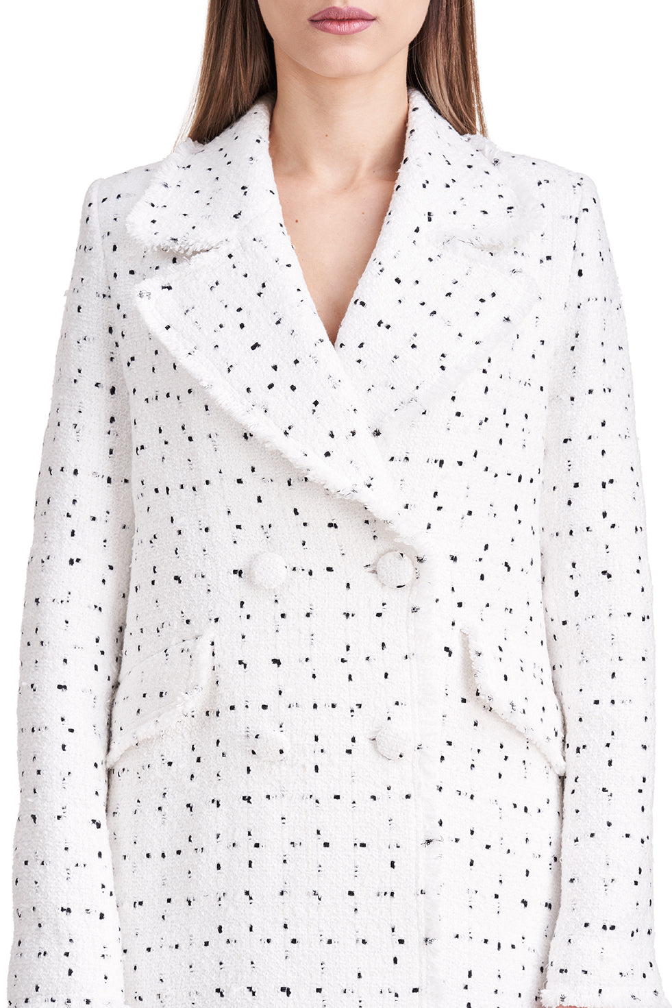 Eden White Lapel Coat