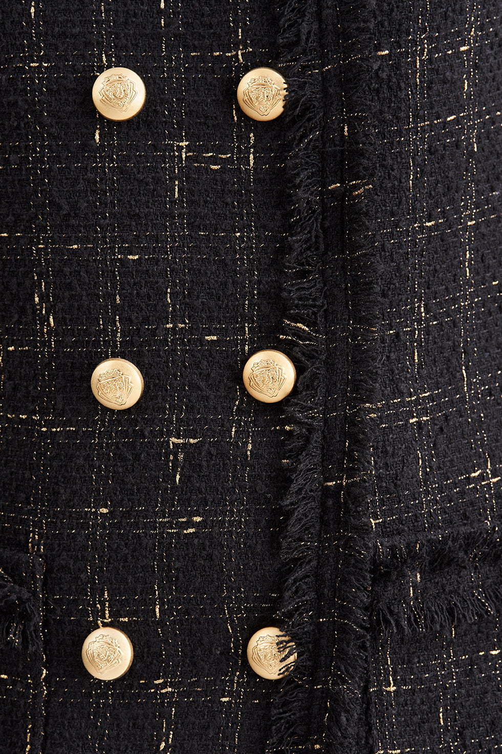 Chriselle Gold Button Blazer
