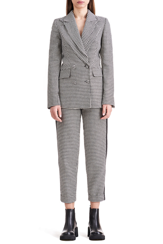 Meghan Double-Lapel Gingham Blazer