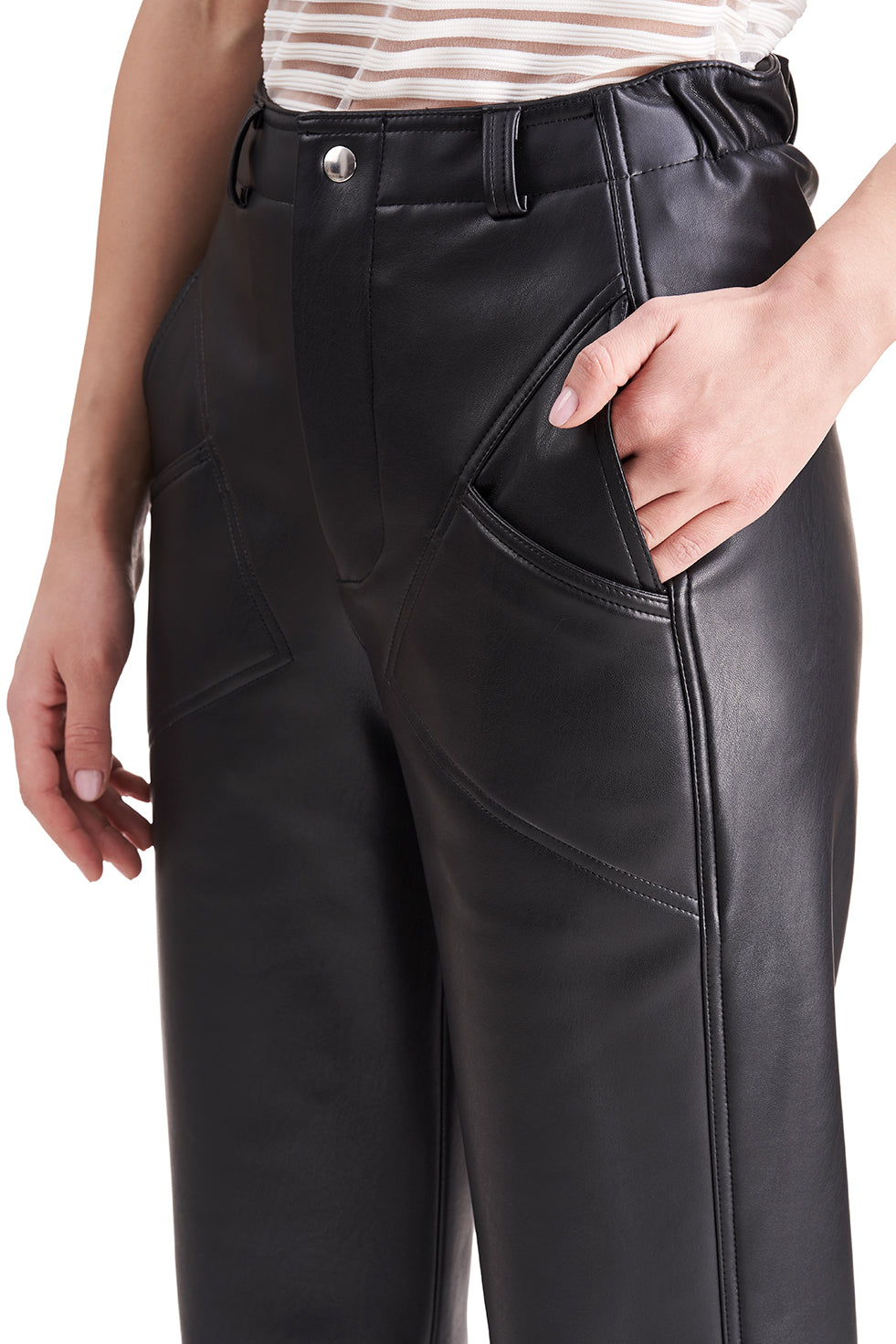 Toby Black Leather Trousers