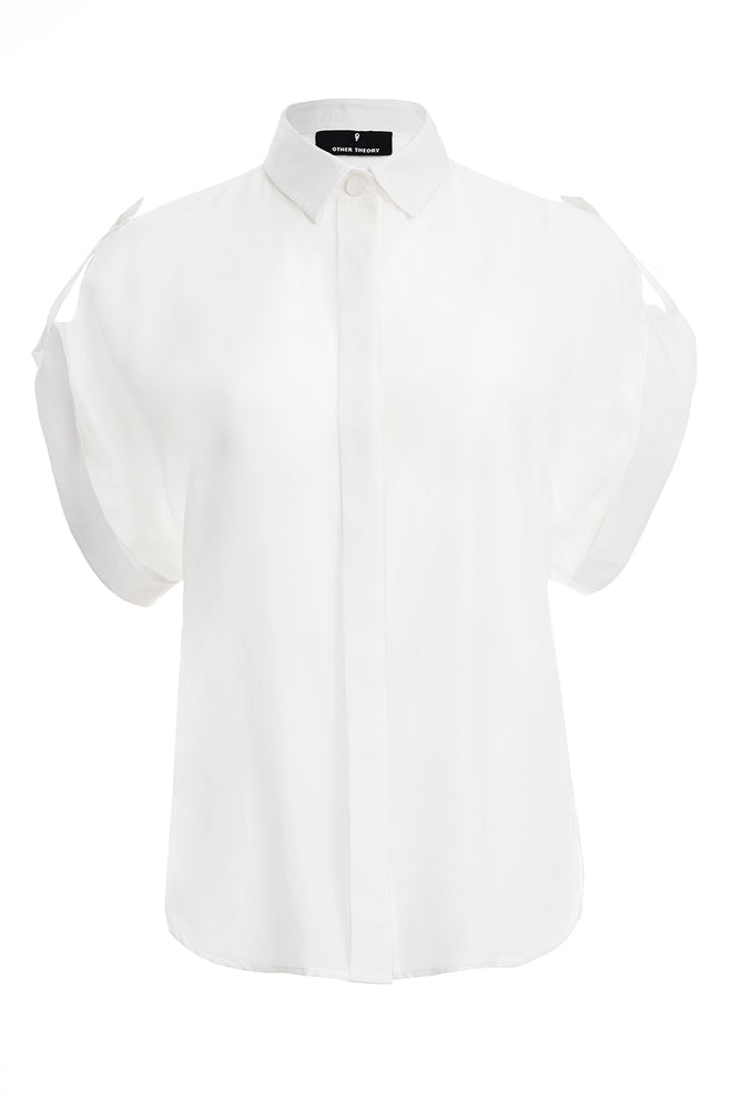 Emaly White Silk Shirt