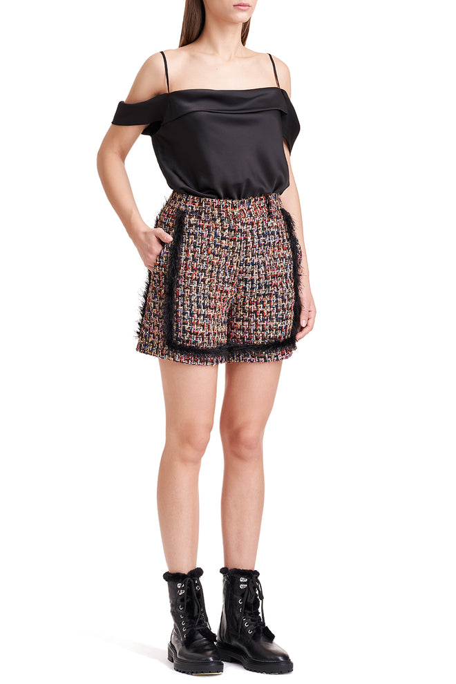 Shay Embellished Tweed Shorts