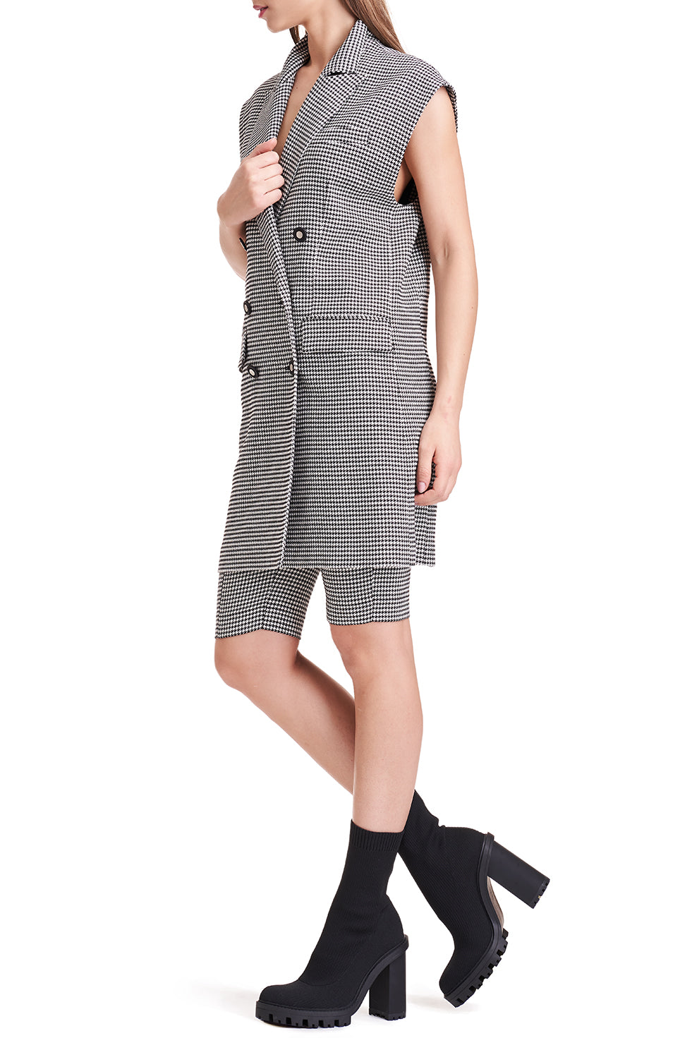 Noire Oversized Checked Vest