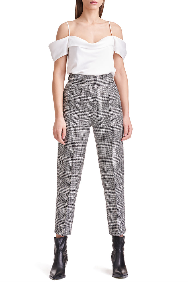 Dani Ankle Length Checked Trousers