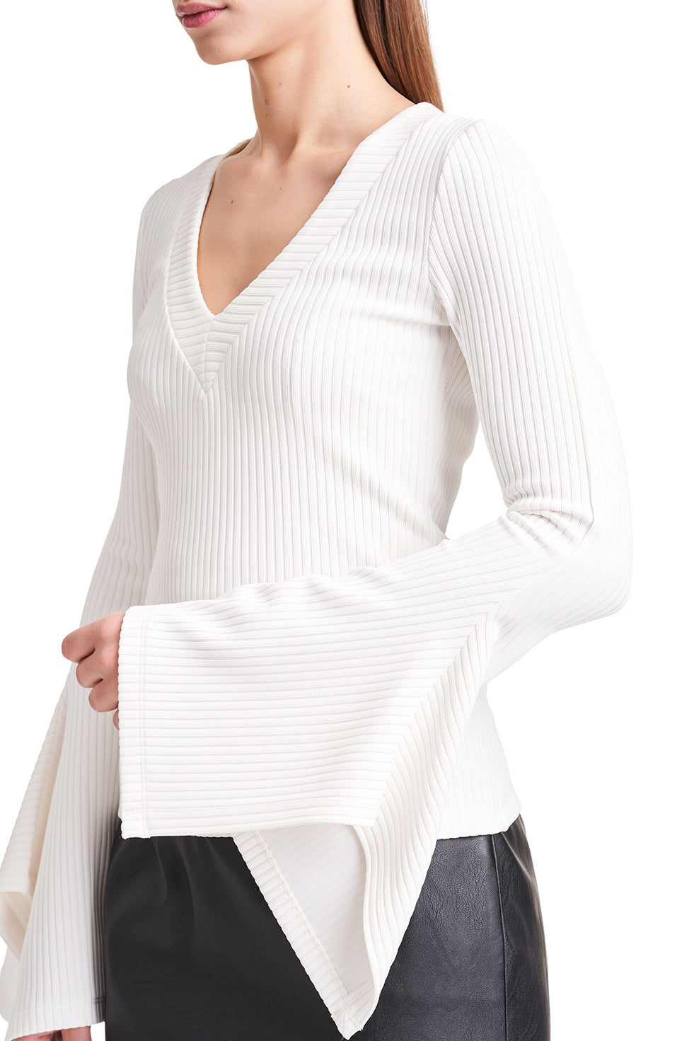 Ivy Ribbed Cotton-Blend Top