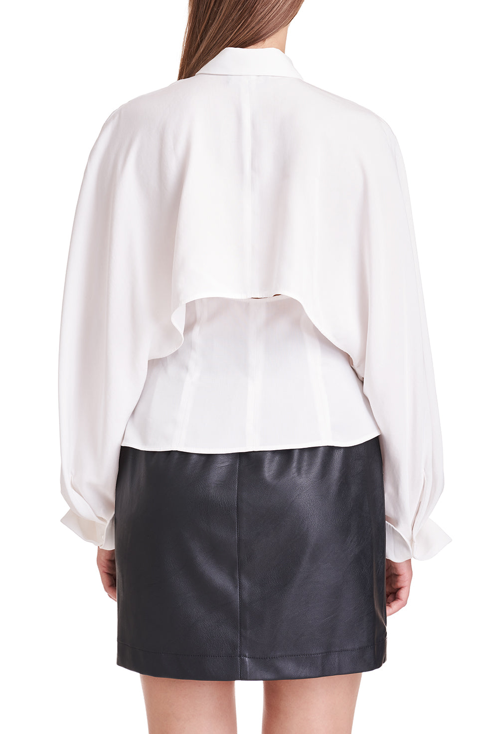 Danna White Cape Sleeve Shirt