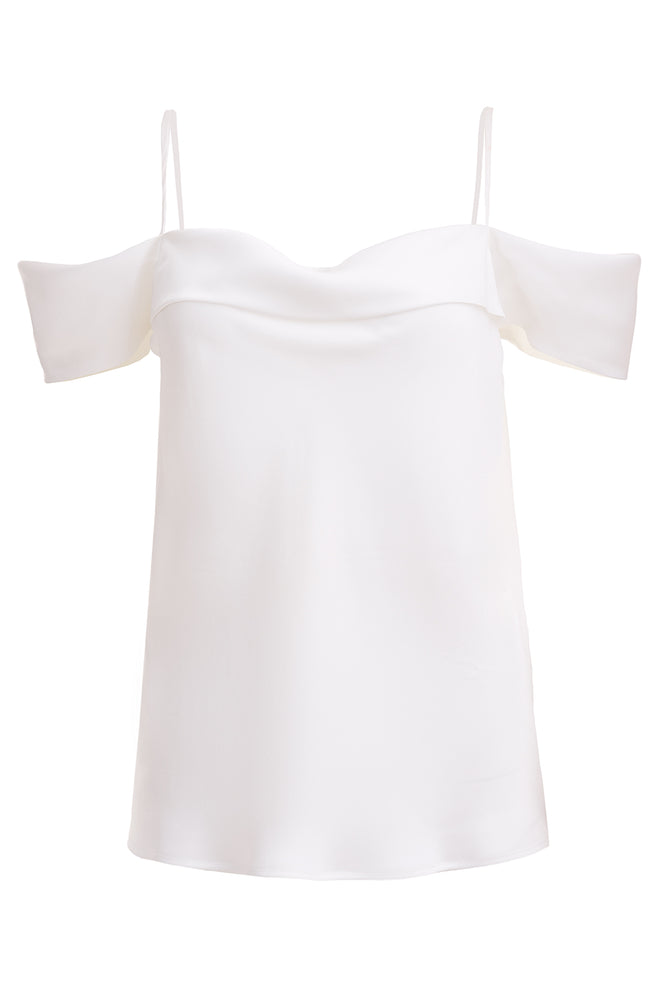 Leonie White Dropped Sleeve Top