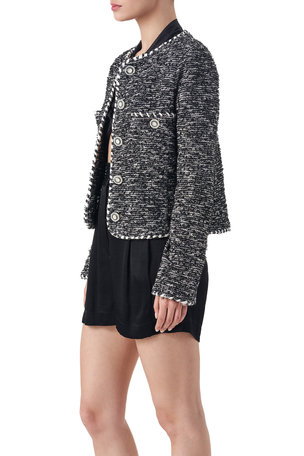 Makayla Boucle Button detailed short jacket