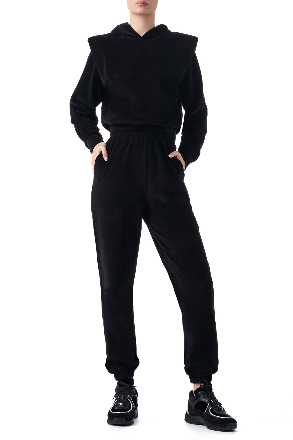 Edith Black Other Theory signature joggers