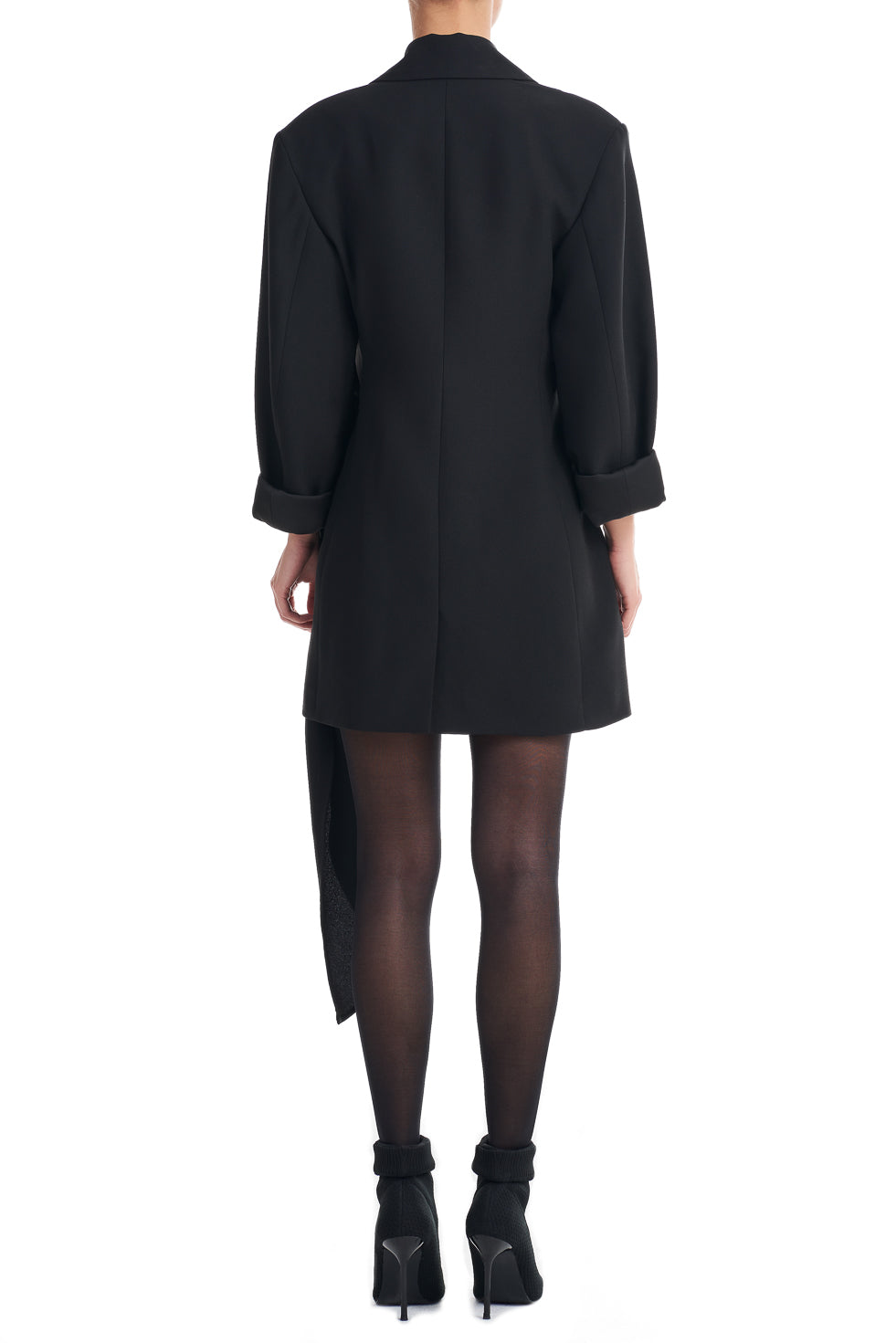 Paloma Black Asymmetric Blazer Mini Dress