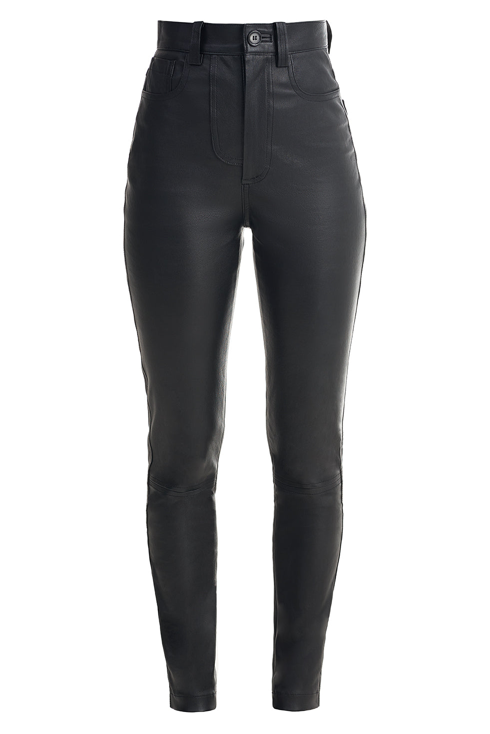Real Leather Straight Leg Trousers
