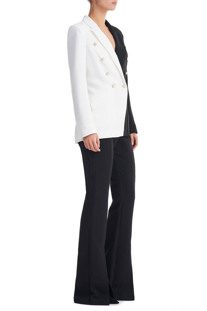 Anabel Contract Black and White Shouder Breasted Blazer