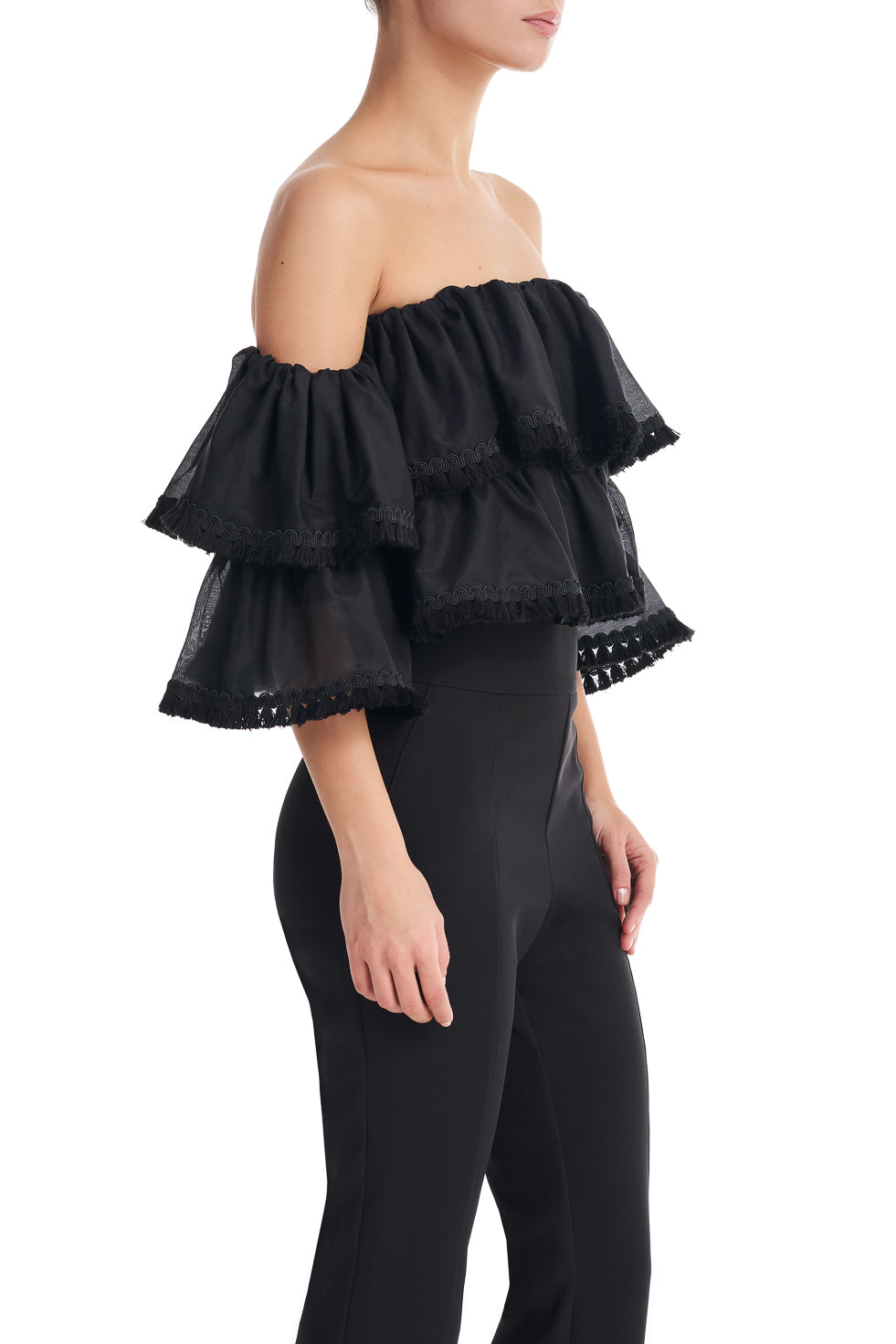 Jane Black Frill Fringe Bardot Top