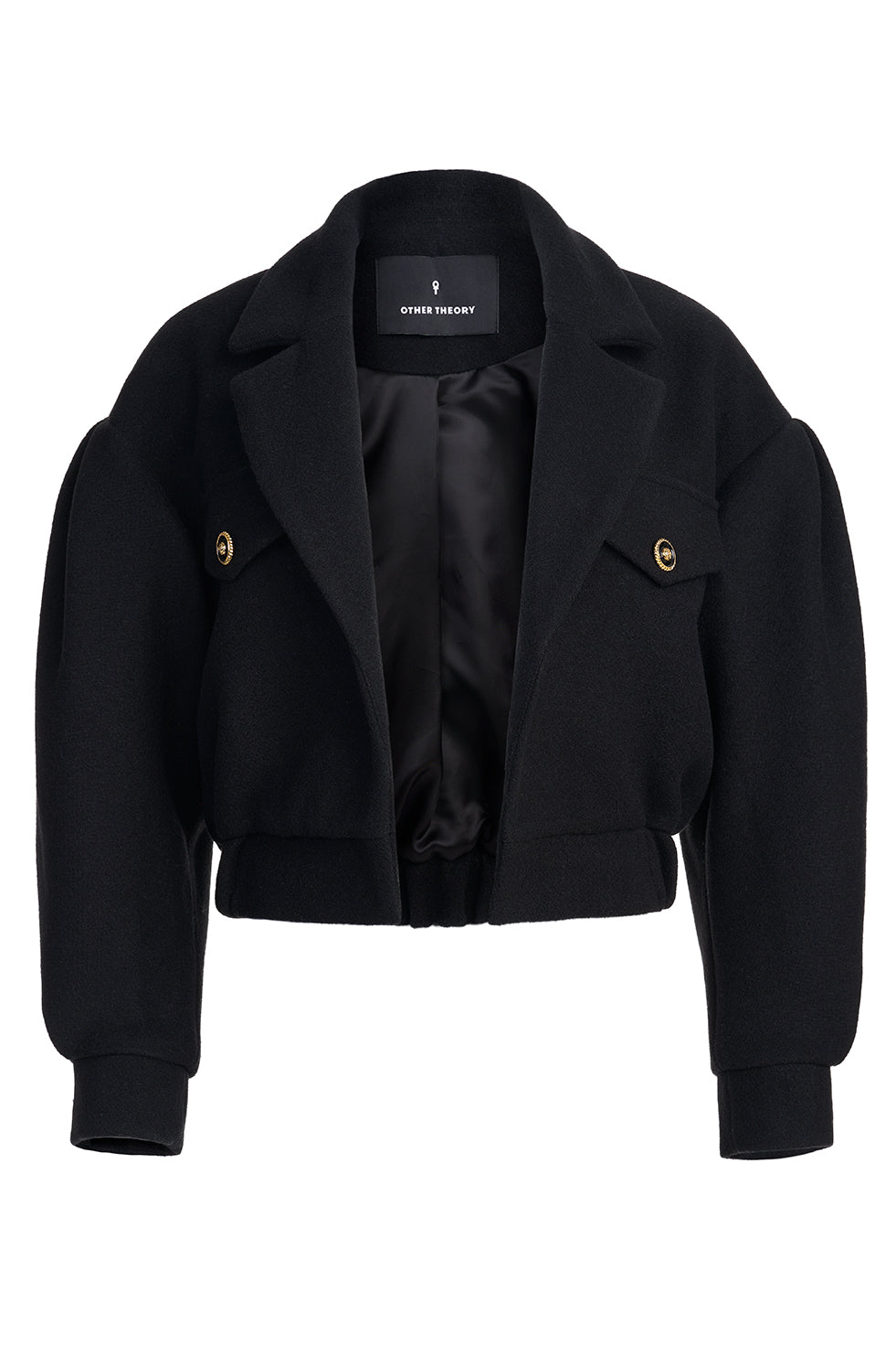 Taylor Black Puff Long Sleeve Blazer