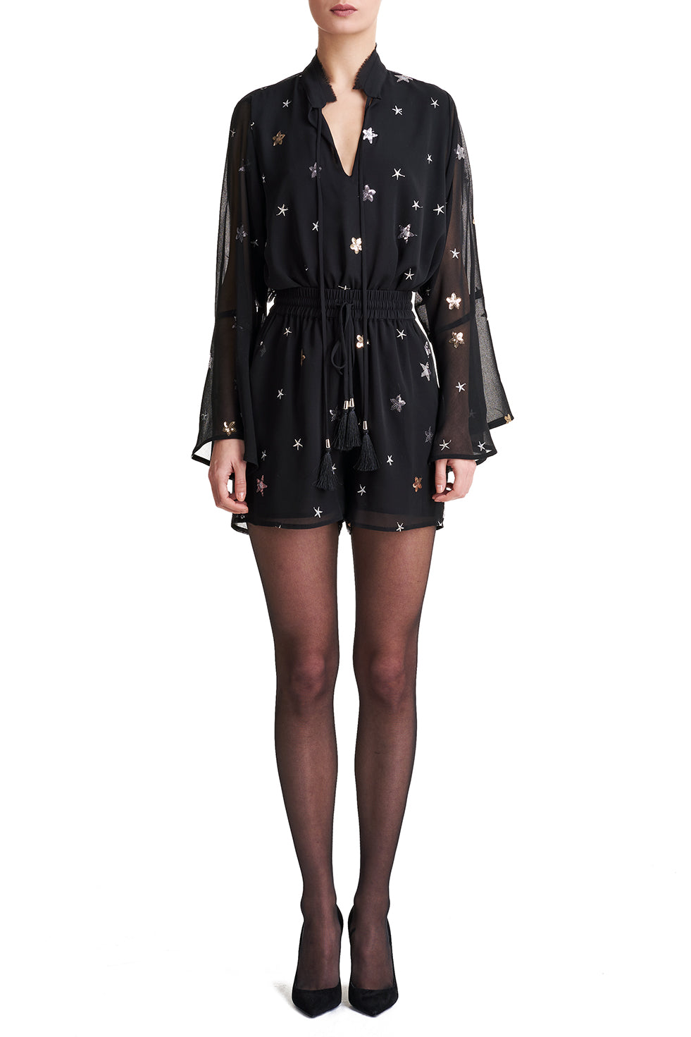 Alexa Starry Sequined Shorts