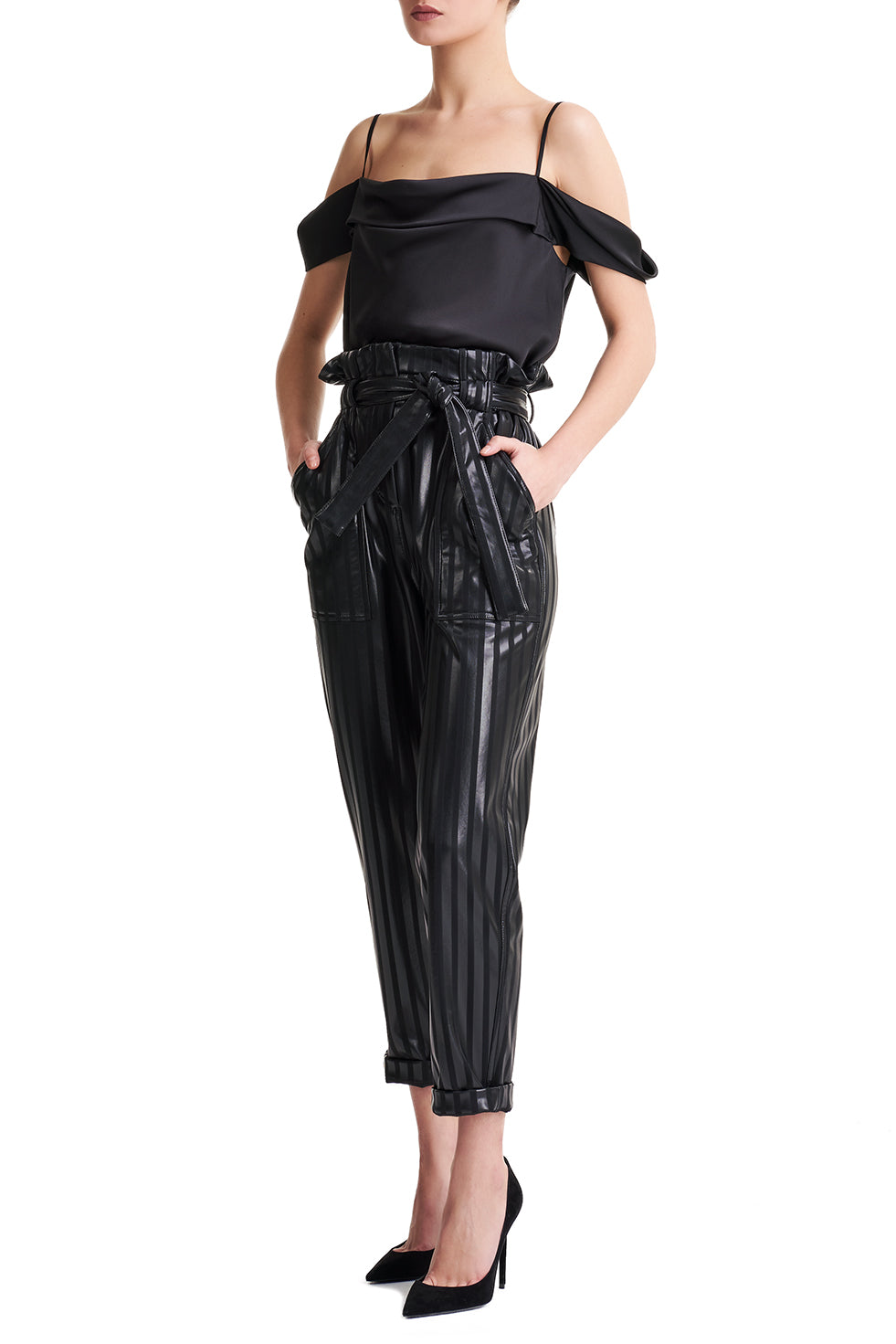 Grace High Rise Paper Bag Trousers