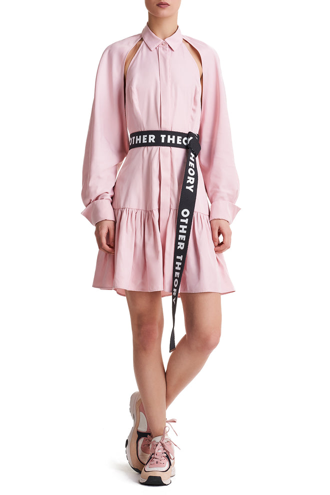 Sharon Pink Shirt Dress