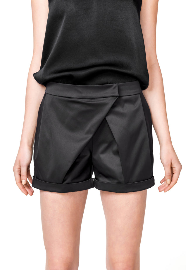 Wrap Black Shorts