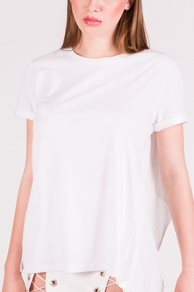 Flo White Open Back T-Shirt