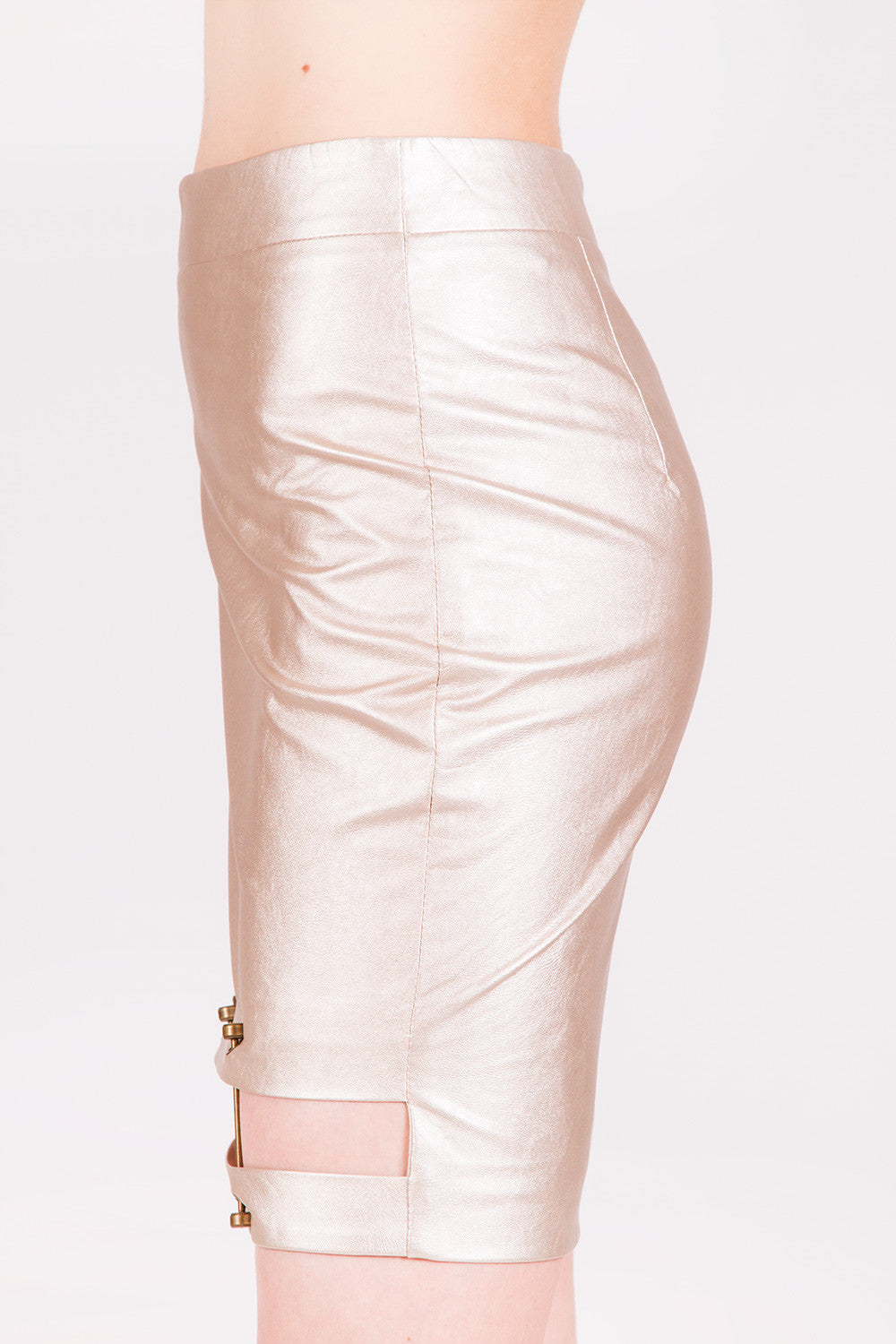 Rihanna Rose Gold Skirt