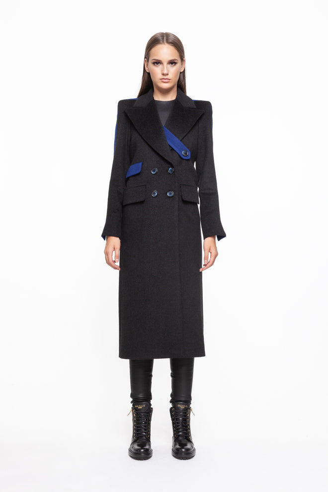 JANELLE Black and Blue Coat