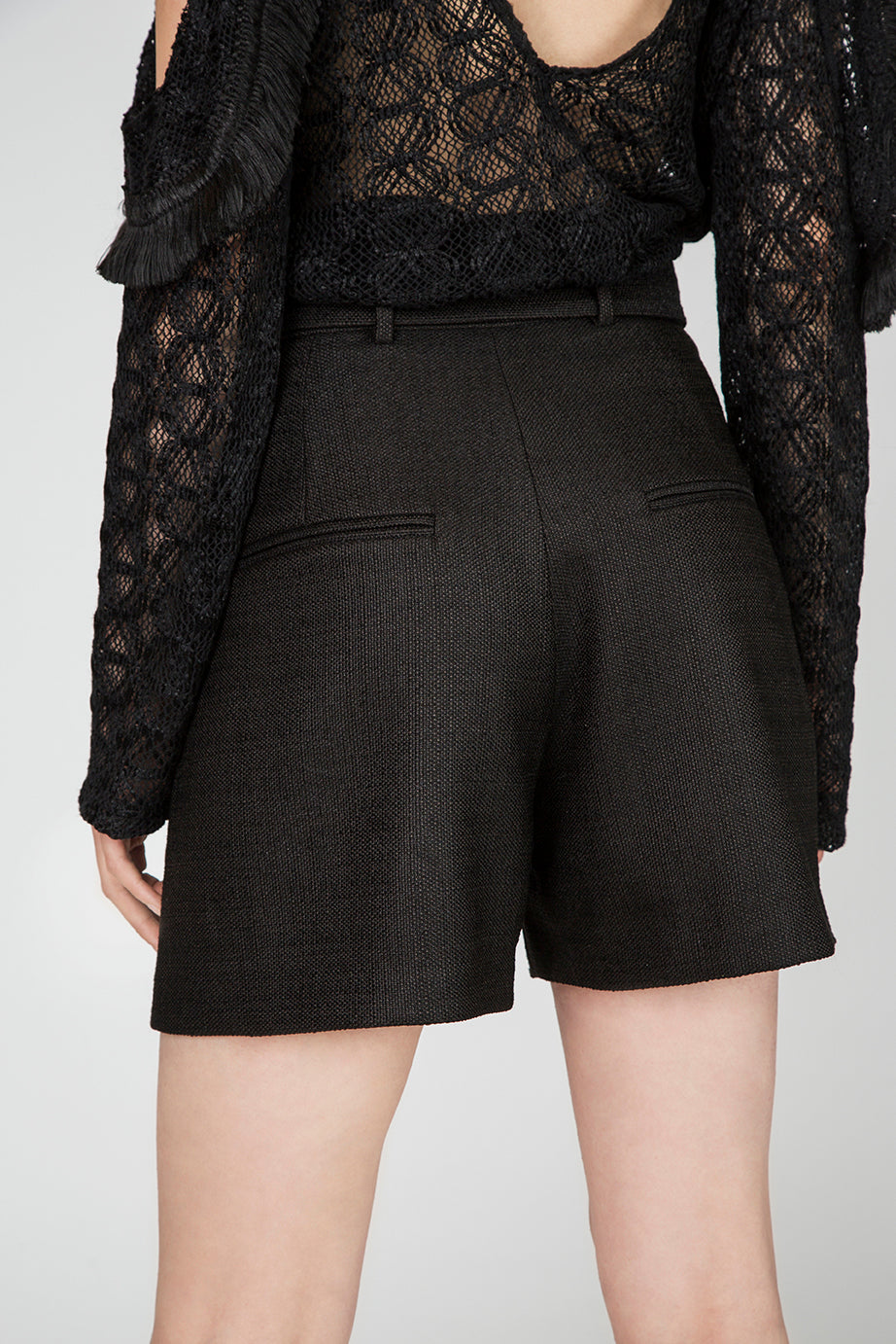 Zoey Black High Waist Shorts
