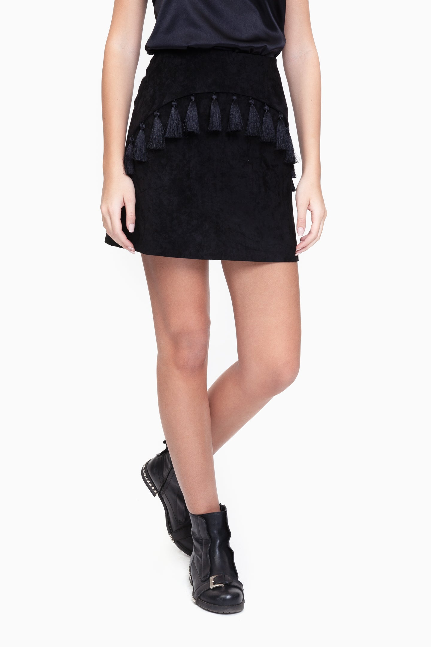 Eleanor Black Tassel Skirt