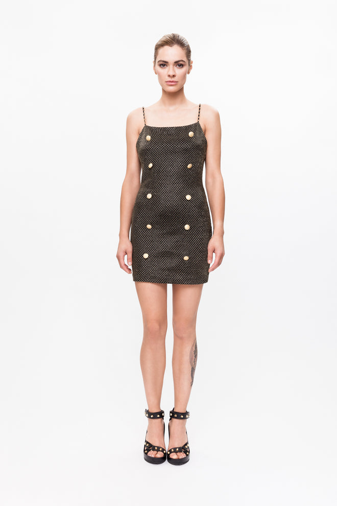 BRENDA black gold dress
