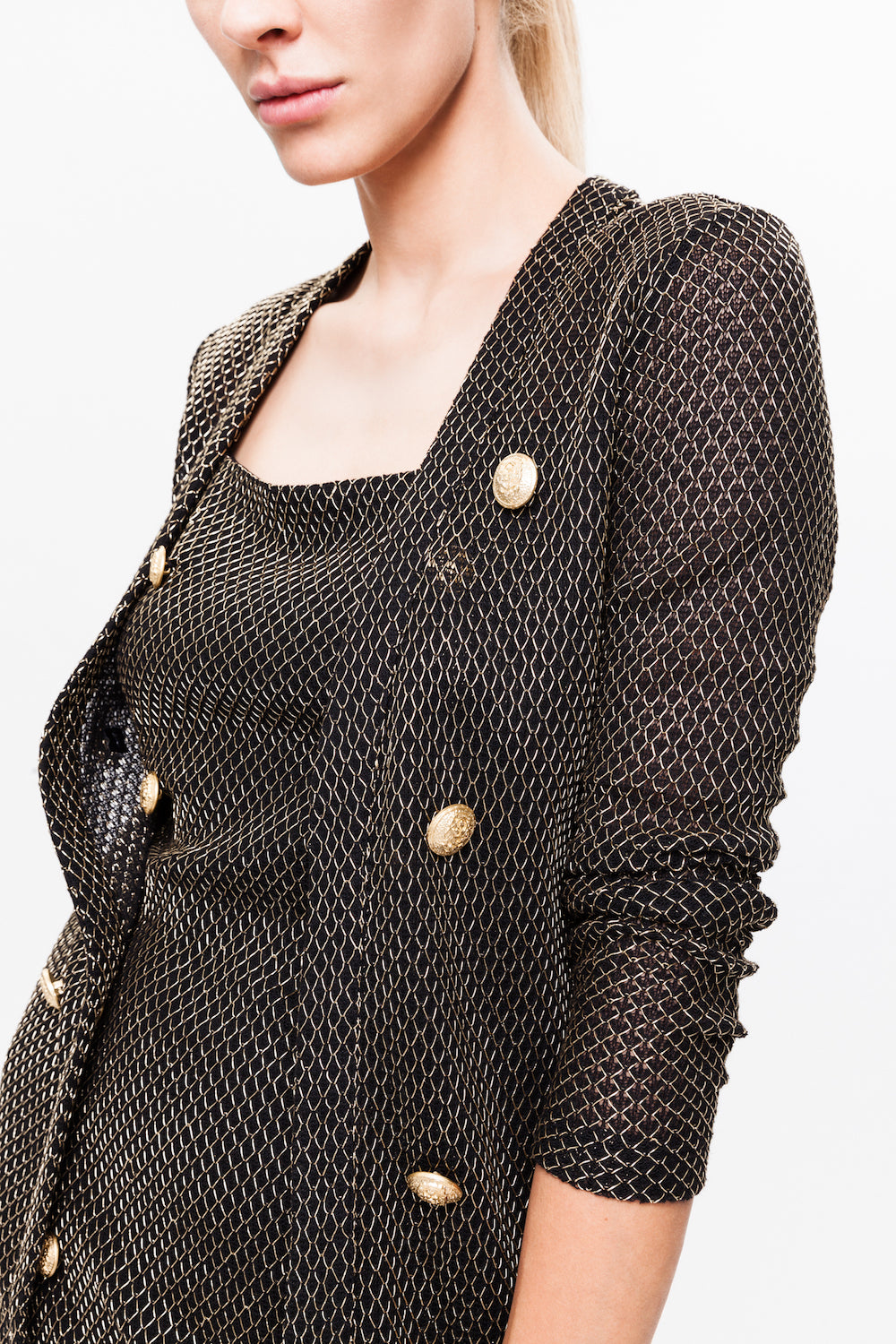 BRIANNA black gold cardigan