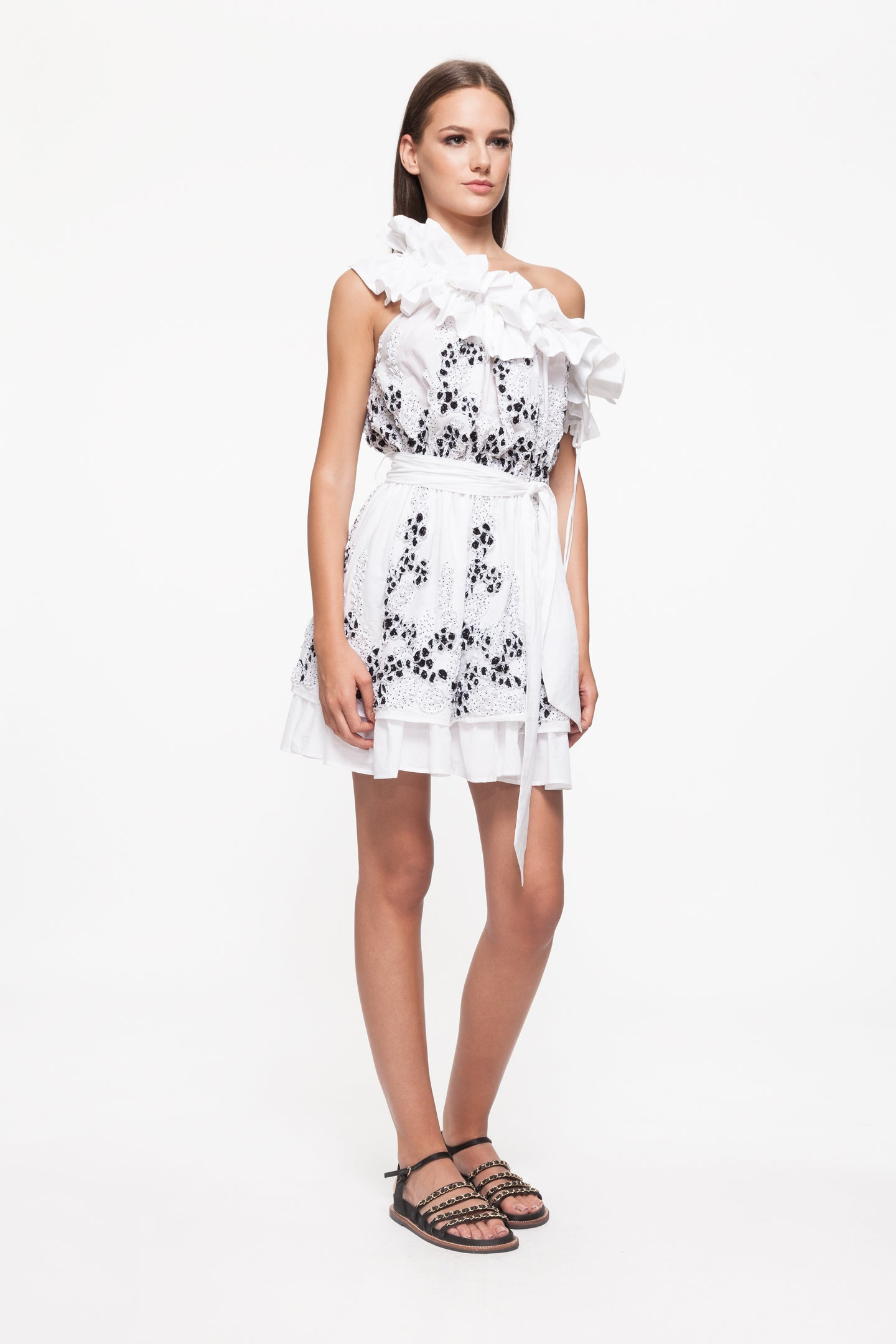 EMALY White Cotton Dress