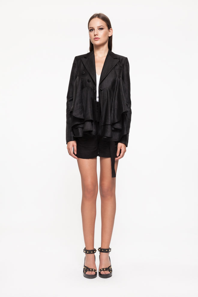 ISHTAR Black Layered Blazer
