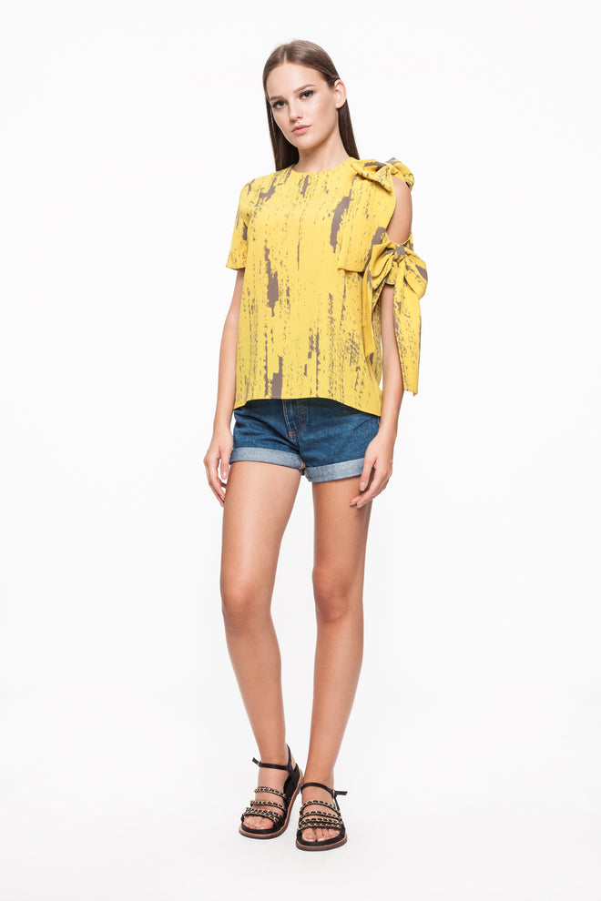 FIONA Yellow Ribbon Top