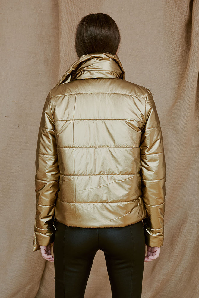 MIKA golden asymmetric jacket