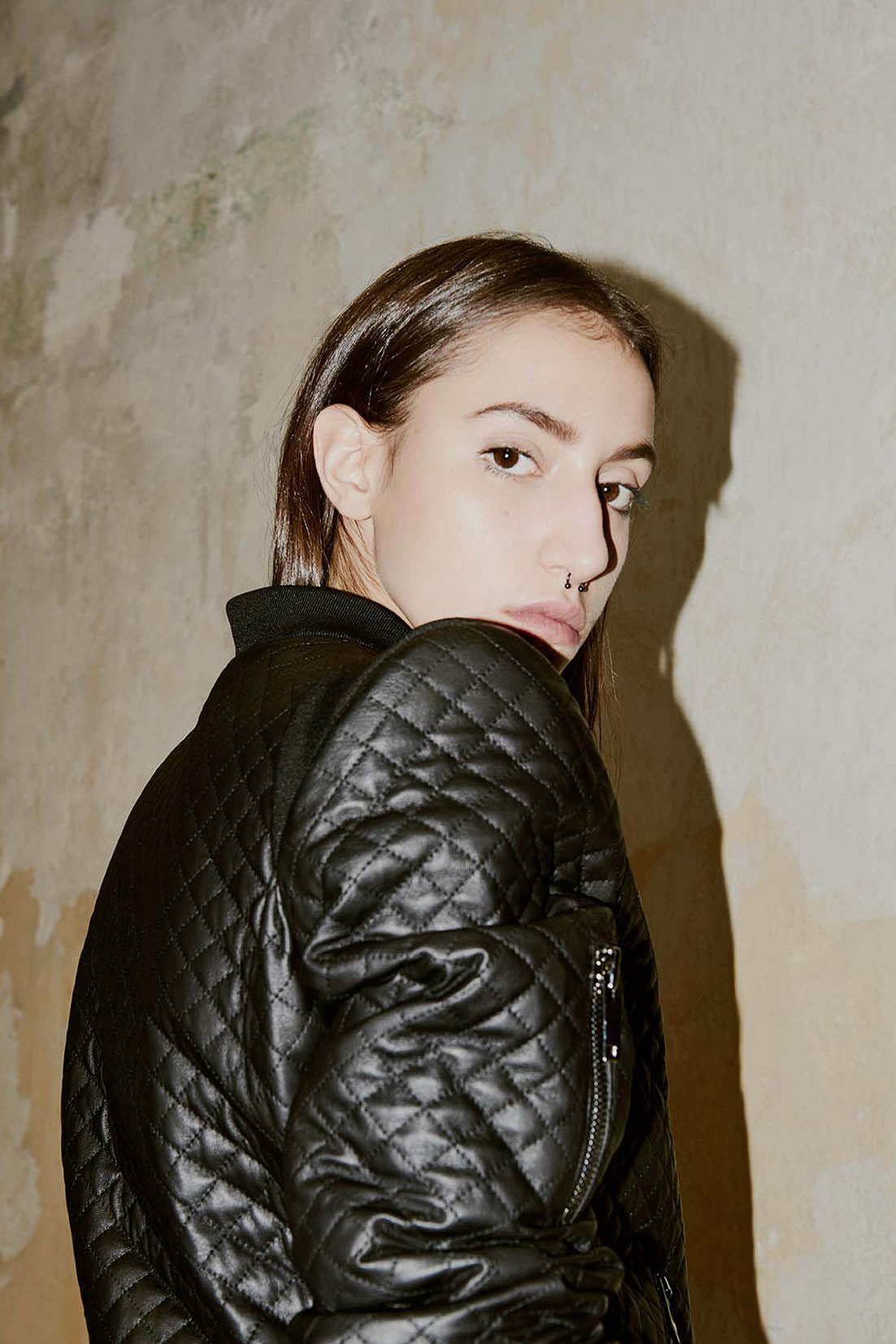 BERLIN quilted bomber jacket