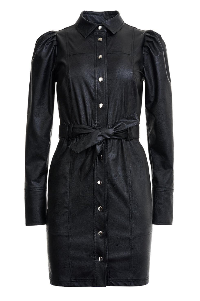 Hannah Leather Shirt Dress