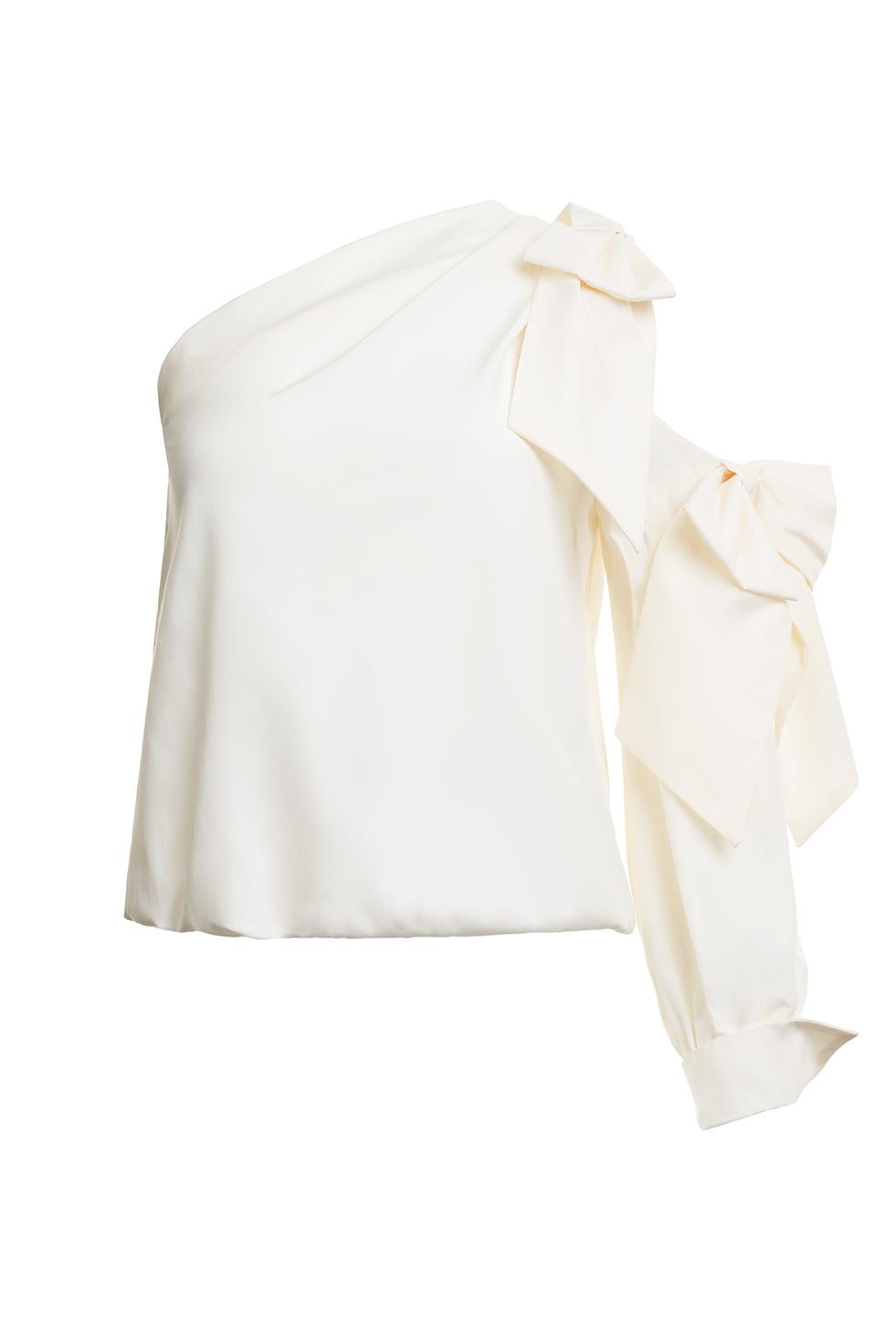 Bowe White One Sleeve Top