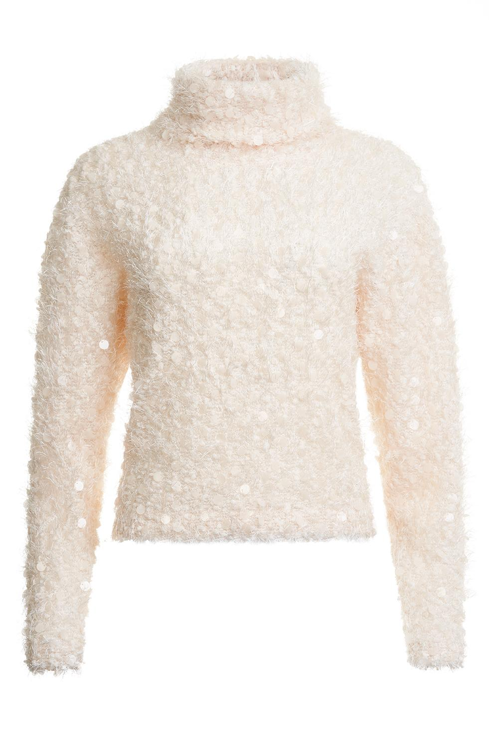 Doly Fluffy Sequin Sweater