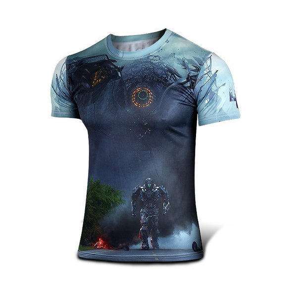 Kortærmet T-shirt i Transformers design - Short Sleeve T-Shirt