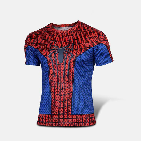 Kortærmet T-shirt i Spiderman design - Short Sleeve T-Shirt