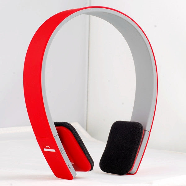AEC Bluetooth Stereo hovedtelefoner i RØD - AEC Noise Reduction Wireless Bluetooth Stereo Headphones