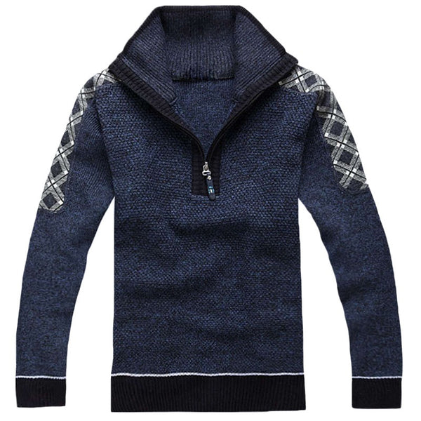 Klassisk herresweater - Casual Solid Pattern Knitted Sweater