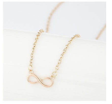 Halskæde - Gold Silver Tones Infinity Necklaces